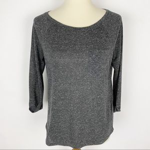 🌷DIVIDED H&M 3/4 Sleeve Polyester Linen Blend Tee